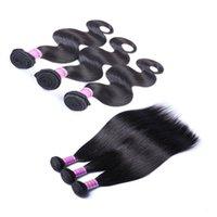 işlenmemiş indian remy saç atkısı toptan satış-İşlenmemiş Brezilyalı Düz Vücut Gevşek Derin Dalga Kıvırcık Saç Atkı İnsan Saç Perulu Hint Remy Saç Uzatma Örgüleri Boyanabilir