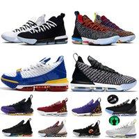tênis de basquete 16 venda por atacado-chaussures lebron 16 basketball shoes Relógio de luxo A Igualdade do Trono 16 16 s mens sapatos de Basquete Eu Prometo Oreo 1 Através 5 Sapatilhas rei treinadores 7-12