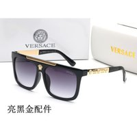 Wholesale polarize glasses for driver for sale - Group buy 2019 New Versace Fashion Sunglasses for Men Women metal frame Mirror polaroid Lenses driver Sun Glasses with brown case and box f135