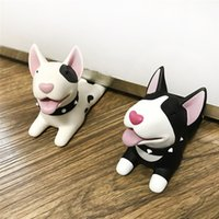 Wholesale child safety door holder resale online - Cute Cartoon Dog Door Stopper Holder Bull Terrier PVC Baby Safety Protection Home Decoration Animal Figures Toys For Children