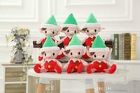 cortina de felpa de girassol venda por atacado-Presentes hxltoystore Natal do duende de Santa Plush Toys Melhor Chrismas por decorações da festa de Natal das crianças Brinquedos 25-30cm