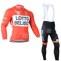 Wholesale long sleeve cycling jersey sale for sale - Group buy Lotto team Cycling jersey Cycling long Sleeves jersey pants sets bib sets Quick Dry Breathable Hot Sale cycling set