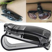 New Sun Visor Carbon pattern Sunglasses Ticket Pen Clip Holder Car Accessories