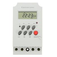 ingrosso interruttore lcd-Presa timer programmabile digitale LCD da 7 giorni con plug-in programmabile