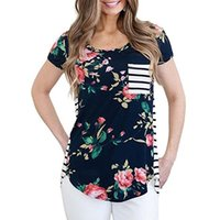 Wholesale nursing breastfeeding clothing for sale - Group buy Summer Breastfeeding Tops Maternity Clothes For Pregnant Women Tees Tops Feeding Pregnancy Nursing T shirts Maternity Clothing Y190529