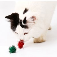 игрушечная елка оптовых-Cats Attractive Ball Toys Flash Play Balls for Running and Solving Boredom Christmas Tree Ornament