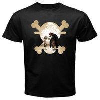 ein stück luffy schwarz weiß großhandel-Ein Stück 2 Luffy Anime Japan Pirat T-Shirt mit Affen-Affe Schwarz Basic Tee Weiß Schwarz Grau Rot Hose T-Shirt