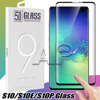 Wholesale tempered glasses screen protector iphone online – For Iphone X Samsung S10 S9 Note S8 Plus galaxy Note Tempered Glass Full Screen color Protector D Curved