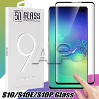iphone plus protector de pantalla templado al por mayor-Para Iphone X Samsung S10 S9 Note8 S8 Plus galaxy Note 9 8 Cristal templado Pantalla completa Color Protector 3D Curved S7 Edge