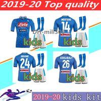 série infantil venda por atacado-19 20 Serie A Nápoles Napoli kits 2,019 Napoli criança Shirt shirt 2020 LOZANO Hamsik L.INSIGNE PLAYER caçoa o futebol camisas de futebol crianças em casa