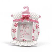 baby dusche europa groihandel-Harz Bilderrahmen Zarte Baby Shower Favors Mini Kleiderbügel Ornament Vollmond Für Kinder Geburtstagsparty Geschenk 3 6lyC1