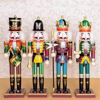 Wholesale wooden puppets for sale - Group buy New Nutcracker Puppet Soldiers Wooden Figurine Christmas Desktop decoration window showcase Home Decor Ornaments Creative Christmas Gift