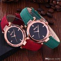 gogoey deri izle toptan satış-Yeni Moda Gogoey Marka Gül Altın Deri Saatler Kadınlar bayanlar casual elbise kuvars kol saati reloj mujer