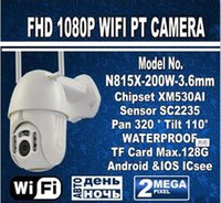 mini cámaras al aire libre ip dome al por mayor-Cabeza de buey Forma al aire libre PT Cámara IP inalámbrica Mini (2.5 pulgadas) Doble WiFi Cabeza Cámara IP 1080p Speed Dome CCTV Cámaras de seguridad Cámara IP WiFi E