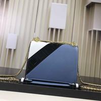 ingrosso disegno della catena dell'oro della scatola-Borsa Le BOY in pelle di vitello borsa quadrata di design borsa di lusso di alta qualità con tracolla a catena retro in pelle color oro con BOX