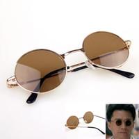 steampunk vente de lunettes achat en gros de-Vente en gros - Mode été Hot Goggles Lunettes de soleil Steampunk Hommes classique Lunettes rondes Unisexe lunettes en verre Style Vintage