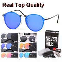 Wholesale accessories plastic packaging online – deals Fashion Trend Round Sunglasses Women Vintage Retro Mirror Sun Glasses Oculos De Sol with original box packages accessories everything