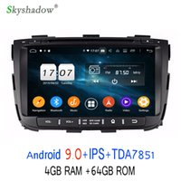 kia sorento radio bluetooth al por mayor-TDA7851 Android 9.0 para kia SORENTO 2013 2014 Octa Core 4GB RAM 64GB Bluetooth Wifi 4G GPS Glonass Map Car DVD Player RDS Radio