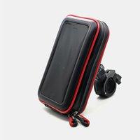 suporte de bicicleta para carro venda por atacado-Malote do telefone da pilha para suportes de suportes do telemóvel do carro elétrico da motocicleta para a bicicleta Suportes de sacos impermeáveis do telefone móvel da bicicleta da bicicleta