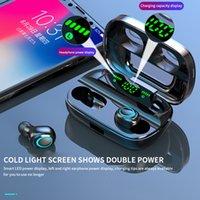 ingrosso display a banco di potenza-Mostra S11 TWS auricolari 3500mAh Power Bank cuffie LED Bluetooth 5.0 auricolare senza fili stereo Hi-Fi Gaming Headset con il Mic