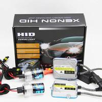 xenon ac hid h7 55w toptan satış-AC 12 V 9005 HB3 9006 HB4 H1 H3 H7 H8 H9 H11 881 880 55 W Araba HID Xenon Sis Işık