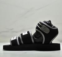 sandalias de tacones de playa al por mayor-2019 nuevas damas de moda sexy sandalias planas talón para mujer zapatillas dobles diseño de marca de moda de verano casual sandalias de playa