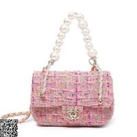 ingrosso sacchetto di crossbody della perla-Borsa a tracolla da viaggio per donna borsa da viaggio diagonale per borsa di perle di lana ultima tracolla di perle dimensioni 25x14cm