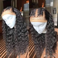 Wholesale real human unprocessed hair wigs for sale - Group buy Real Remy Human Hair Wigs Bleached Knots Water Wave Glueless Unprocessed Virgin Brazilian Remy Hair Full Lace Front Wig Pre Plucked