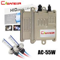 Wholesale h8 55w bulb resale online - Cawanerl W Xenon Light HID Kit AC Ballast Bulb H1 H3 H7 H8 H11 K K Quick Start Car Headlight Fog Light