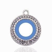 halskette symbol herz großhandel-Diabetes Blue Symbol Kreis Charme Vintage Herzanhänger Anhänger Mode Charme Halskette Für Frauen Männer DIY Schmuck