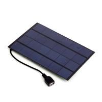 güç bankası usb güneş paneli toptan satış-SW4205U 4.2W 6V USB Çıkışı Mono Güneş Paneli Şarj Güç Bankası