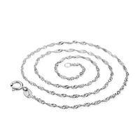 женские модели ожерелья оптовых-Necklace Female Models Wave Chain Of High-end Women's Vintage Jewelry Top 45CM collier ethnique boheme YLL