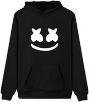 pulôveres de dança venda por atacado-CINPOO Senhoras DJ Marshmello Máscara Hoodies Música de Dança Eletrônica de Manga Longa Jumper Hip-pop Pullovers Camisola Presentes para As Crianças