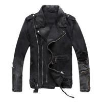 abrigo de la chaqueta de los hombres de jean moda al por mayor-Chaquetas de diseñador para hombre Moda Hombres Mujeres Chaqueta vaquera Casual Hip Hop Jean Coat Manga larga Chaqueta de desgaste al aire libre