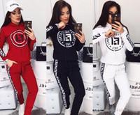 moda casual roupas mais tamanho venda por atacado-Moda 2 Two Piece Set Top e calças Mulheres Treino Plus Size equipamento ocasional Sports Suit Vestuário Mulheres sweatsuits