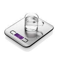 elektronische led-waagen großhandel-5000g / 1g LED Elektronische Digitale Küchenwaage Multifunktions-Lebensmittelwaage Edelstahl LCD Präzisions-Schmuckwaage Gewichtsausgleich