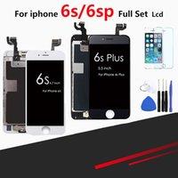 iphone 3d foto großhandel-Für iPhone 6s 6s Plus LCD Voll Vollmontage Mit 3D Force Touchscreen Ersatzdisplay Mit Home Button Kamera-Frontfoto
