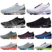 Wholesale pure flooring for sale - Group buy Fly Mens Women Running Shoes Triple Black White Pure Platinum Knit s Men Jogging Sneakers Designer Sport Shoes