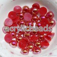 pérolas para unhas lisas venda por atacado-1000PCS Fcatory Atacado AB 4mm apartamento de volta plástico faux pérolas Beads em massa Art Nail Artesanato Telefone DIY Acessórios