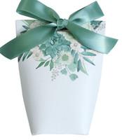 bebek duş şeritleri iyilikler toptan satış-Şeker Kutusu Doğum Günü Bebek Duş Hediye Kutuları Şeker Durumda Parti Malzemeleri Düğün Kurdele Ile Şeker Kağıt Torba Şekeri