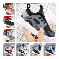 Wholesale black infant babies resale online - Child New Kids Huarache Running Shoes Children Designer Hurache Casual Trainers Breathable Classical Sneakers Infant Baby Size
