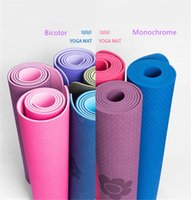 Wholesale yoga for beginners resale online - Foam mat Double color Yoga Mat Anti Slip Sports Fitness Exercise Pilates Gym For Beginners Environmental Fitness Gymnastics Mats