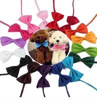 gravatas sólidas para cães venda por atacado-Dog Tie Ajustável Pet Grooming Acessórios Coelho Cat Dog Bow Tie Sólido Bowtie Pet Dog Puppy Adorável Decoração Pet Produto