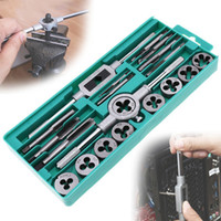 Wholesale tap tool set for sale - Group buy Hand Tools High Quality Tap And Die Set Metric Thread Tap And Dies Adjustable DIY Kit Wrench