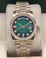 ingrosso 17 scatola originale-17 colori di alta qualità orologio scatola originale 36mmm128238 128238 118238 oro 18 carati vetro zaffiro movimento automatico orologio unisex da polso
