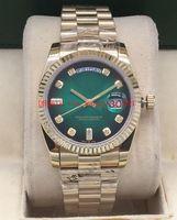 17 originalverpackung großhandel-17 Farben hochwertige Original Box Uhr 36mmm128238 128238 118238 18 Karat Gold Saphirglas Automatikwerk Unisex Uhr Armbanduhren