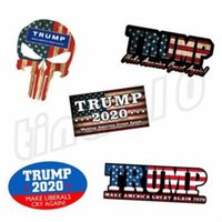 Wholesale car adhesive resale online - Fashion color multi style high quality Reflective Wall Stickers New hot selling TRUMP sticker Car sticker T9I001