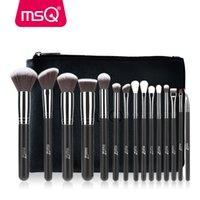 Wholesale msq brushes resale online - MSQ Pro Makeup Brushes Set Foundation Eyeshadow Blusher Make Up Brush Kit High Quality Synthetic Hair With PU Leather CaseMX190918
