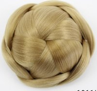 Wholesale chignon online - 16 New hair bag high grade silk professional hairpin bride hair fluffy short curly hair ball hairpin