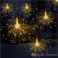 Wholesale party curtain for wedding resale online - DIY Outdoor Waterproof Christmas LED String Lights Firework Battery Operated Decorative Fairy Lights for Garland Patio Wedding